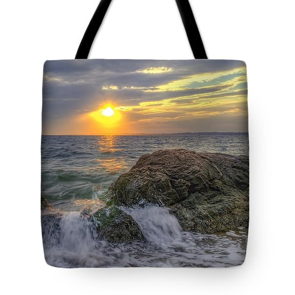 Connecticut Sunset Tote Bag