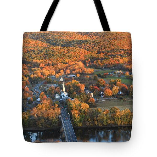 Connecticut Valley Hills And Sunderland Fall Foliage Tote Bag