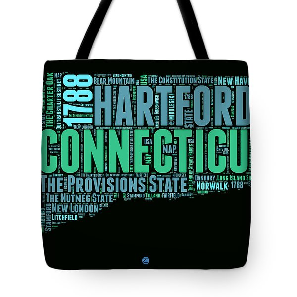 Connecticut Word Cloud Map 1 Tote Bag