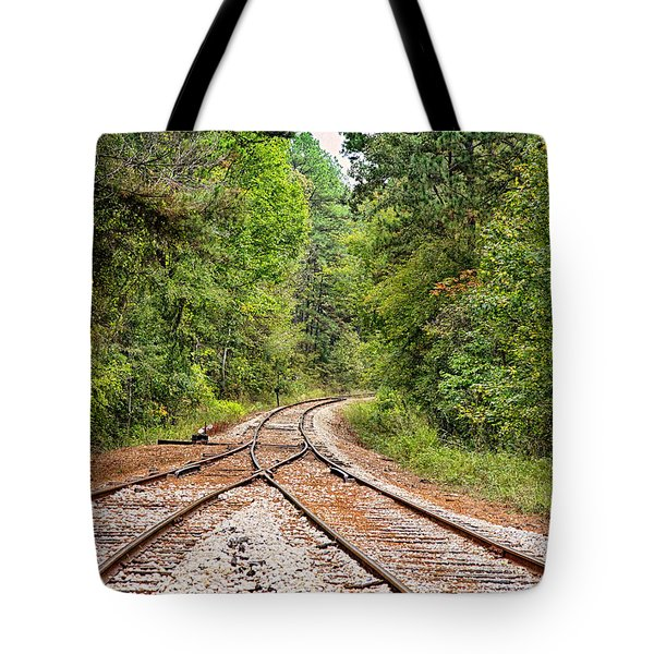 Connecting Tracks Tote Bag