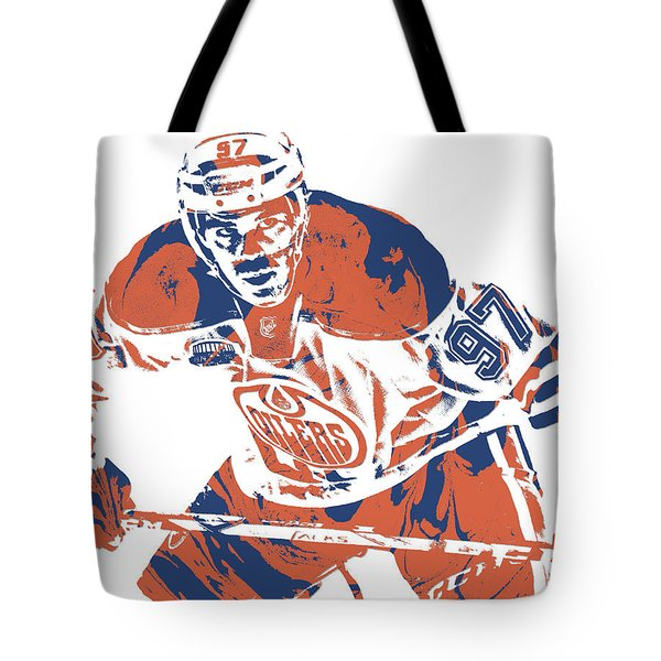 Connor Mcdavid Edmonton Oilers Pixel Art 1 Tote Bag