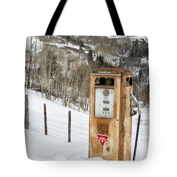 Conoco In The Snow Tote Bag