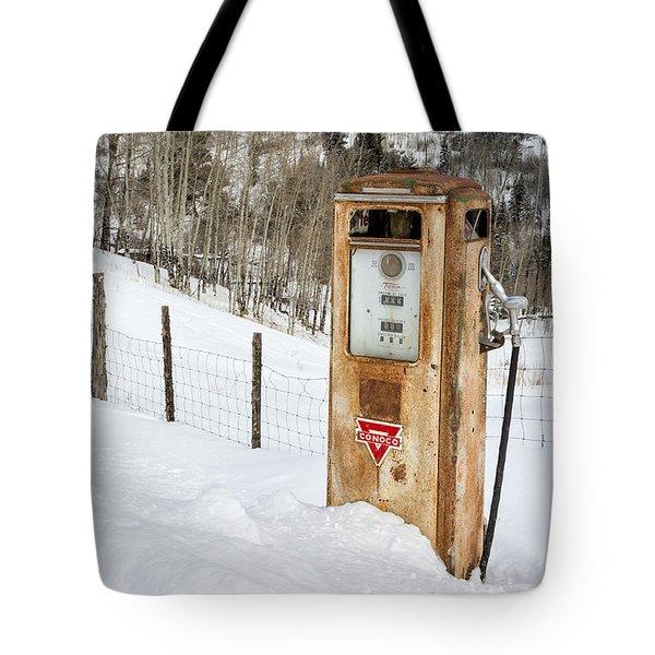 Conoco In The Snow Tote Bag
