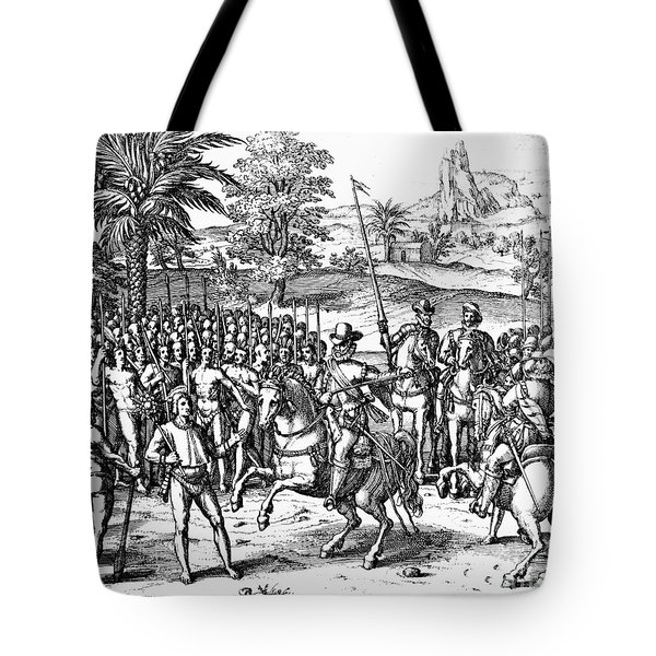 Conquest Of Inca Empire Tote Bag by Granger