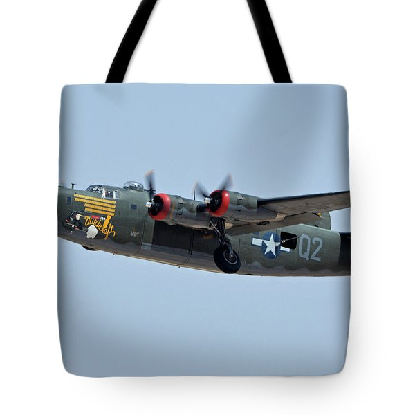 Consolidated B-24j Liberator N224j Witchcraft Phoenix-mesa Gateway Airport Arizona April 15 2016 Tote Bag