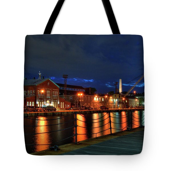 Tote Bag featuring the photograph Constitution Marina - Boston Navy Yard by Joann Vitali