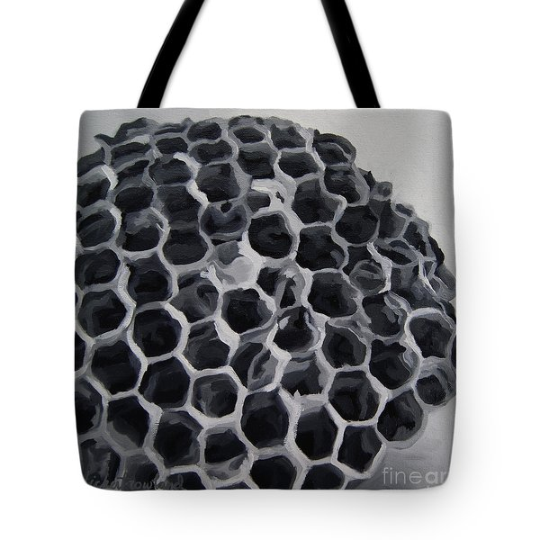 Tote Bag featuring the painting Constructed by Erin Fickert-Rowland