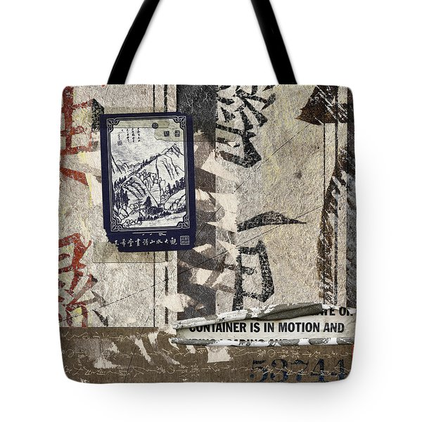 Container Is In Motion Tote Bag by Carol Leigh