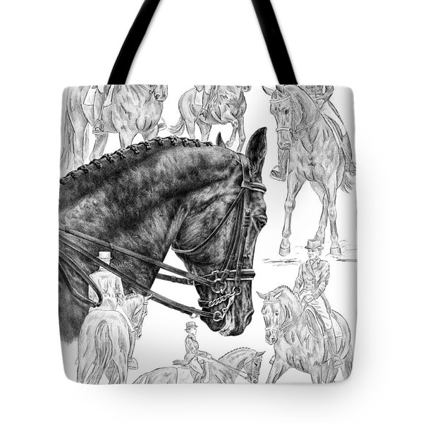 Contemplating Collection - Dressage Horse Drawing Tote Bag