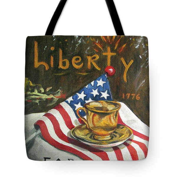 Contemplating Liberty Tote Bag by Cheryl Pass