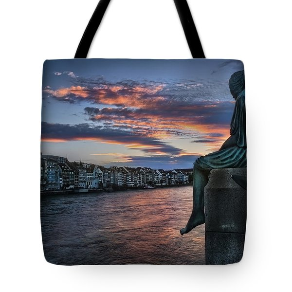 Contemplating Life In Basel Tote Bag by Carol Japp