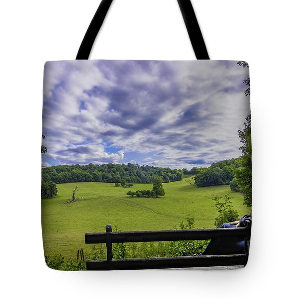 Contemplating The Beautiful Scenery Tote Bag