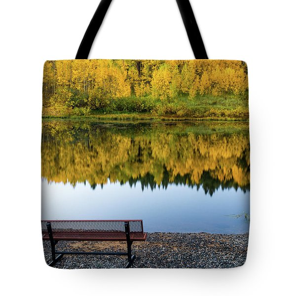 Tote Bag featuring the photograph Contemplating The Colors Of A Colorado Autumn by John De Bord