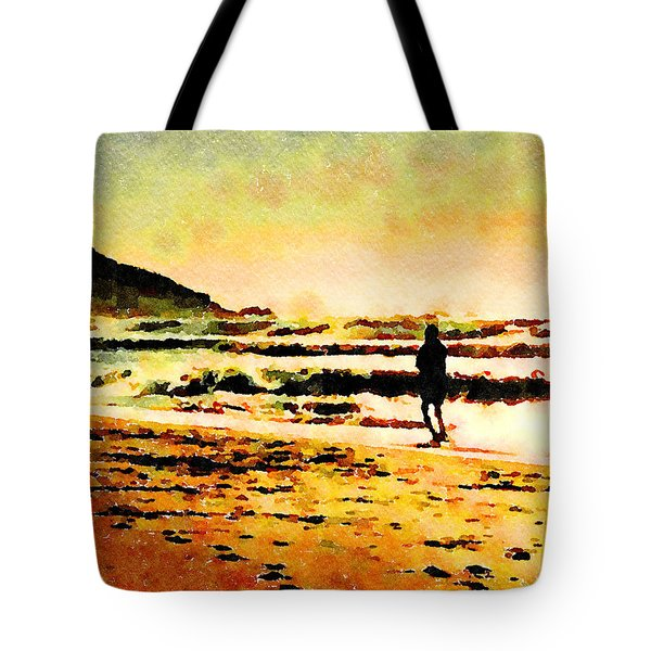 Tote Bag featuring the painting Contemplation by Angela Treat Lyon