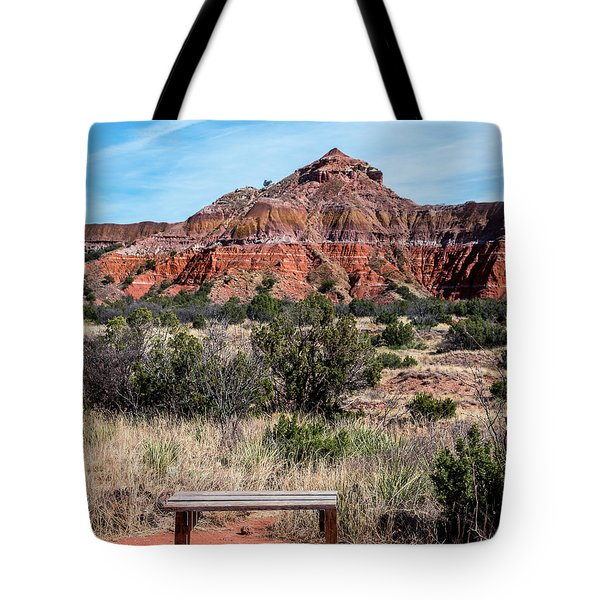Contemplation Bench Tote Bag