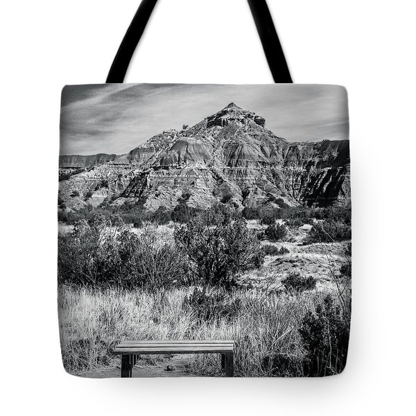Contemplation Bench Bw Tote Bag