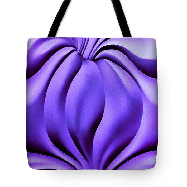 Contemplation In Purple Tote Bag