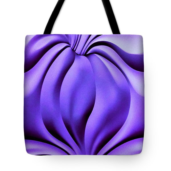 Tote Bag featuring the photograph Contemplation In Purple by Roberta Byram