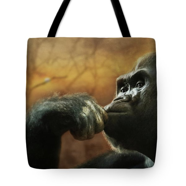 Tote Bag featuring the photograph Contemplation by Lori Deiter