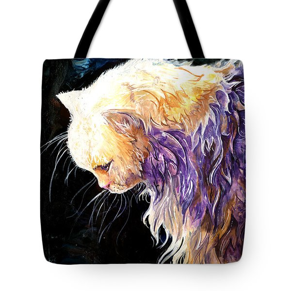Tote Bag featuring the painting Contemplation by Sherry Shipley