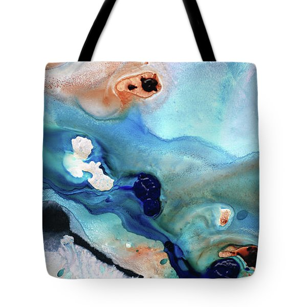 Contemporary Abstract Art - The Flood - Sharon Cummings Tote Bag by Sharon Cummings