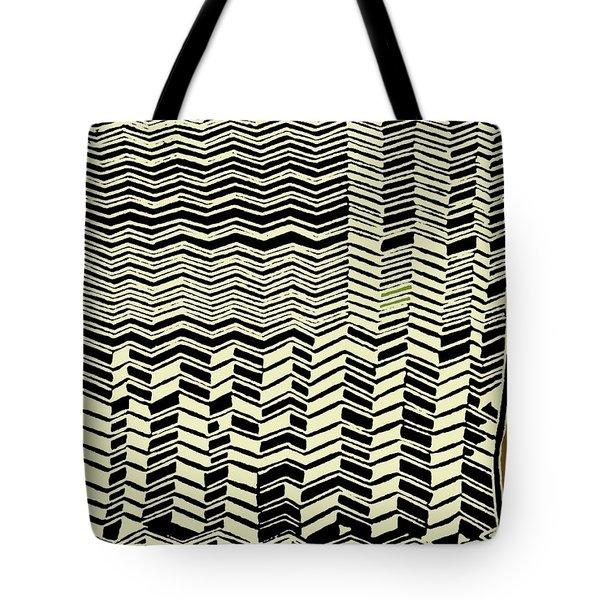 Tote Bag featuring the digital art Contemporary African Tribal Kuba Design  by Vagabond Folk Art - Virginia Vivier