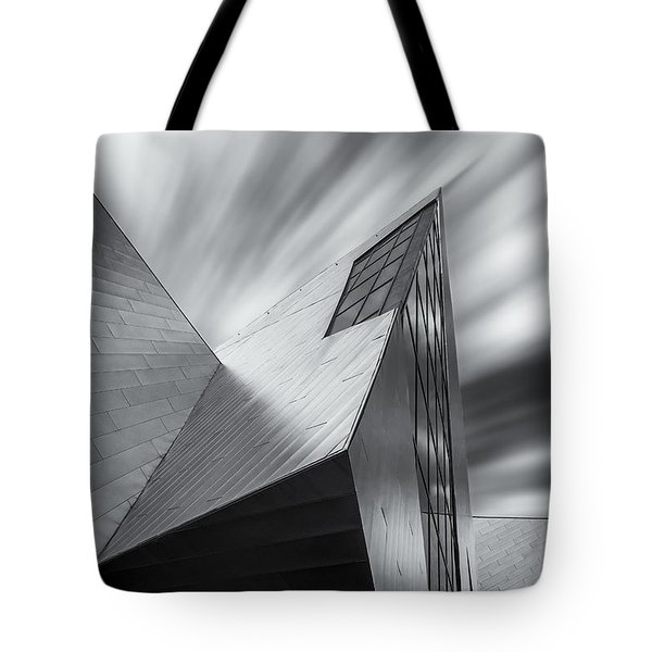 Tote Bag featuring the photograph Contemporary Architecture Of The Shops At Crystals, Aria, Las Ve by Adam Romanowicz