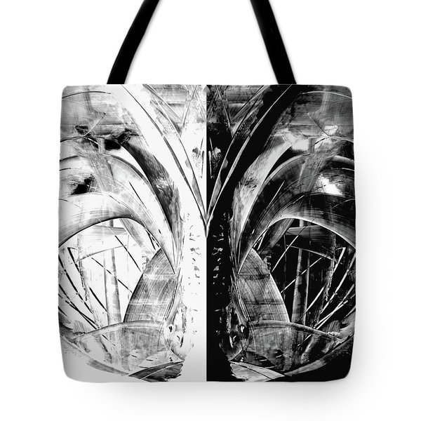 Contemporary Art - Black And White Embers 1 - Sharon Cummings Tote Bag by Sharon Cummings