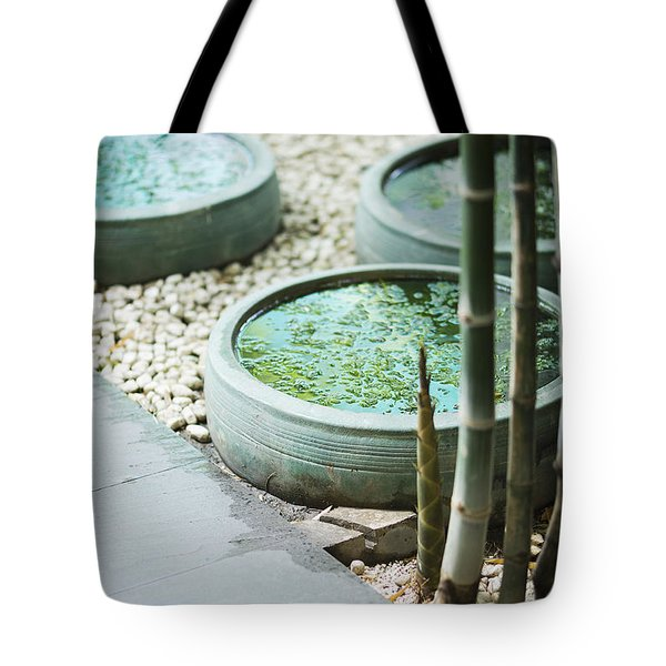 Contemporary Asian Tropical Garden Design Exterior Tote Bag