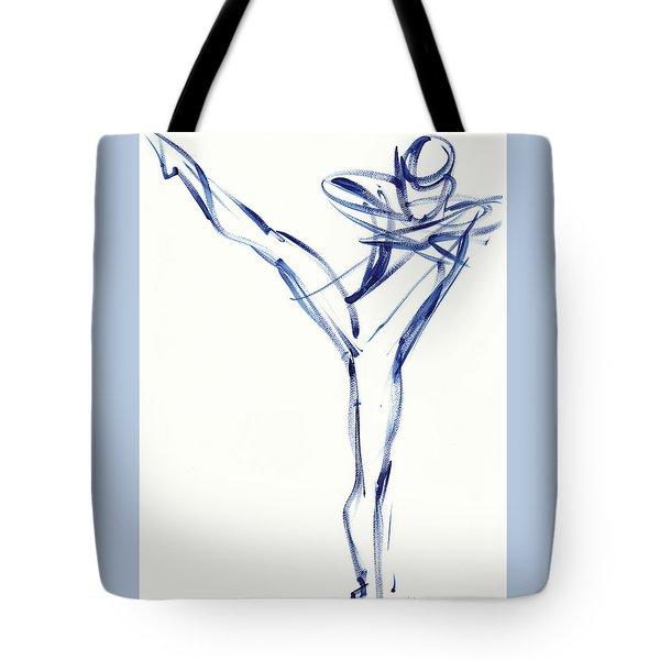 Contemporary Ballet Dancer, Blue Tote Bag