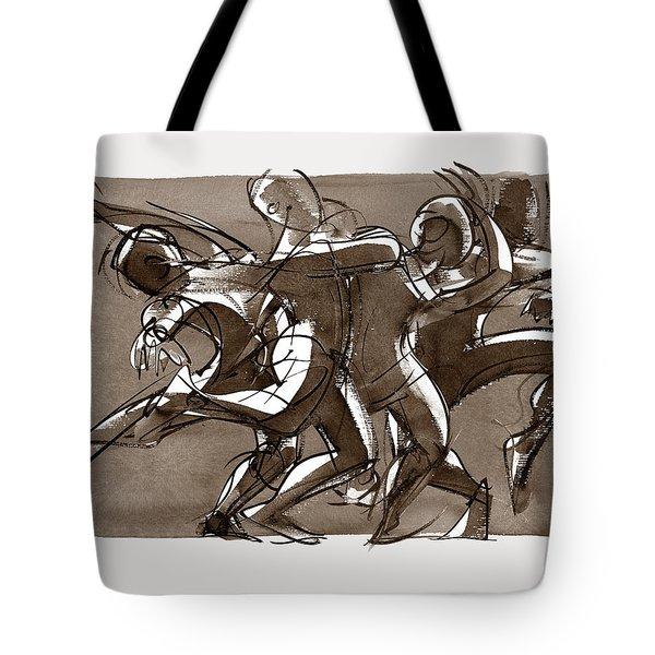 Contemporary Dance Quartet - Lucky Plush, Chicago Tote Bag
