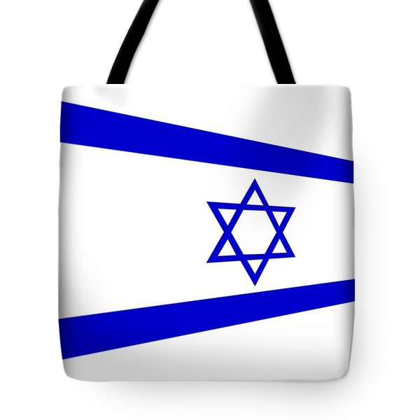 Contemporary Flag Of Israel Tote Bag