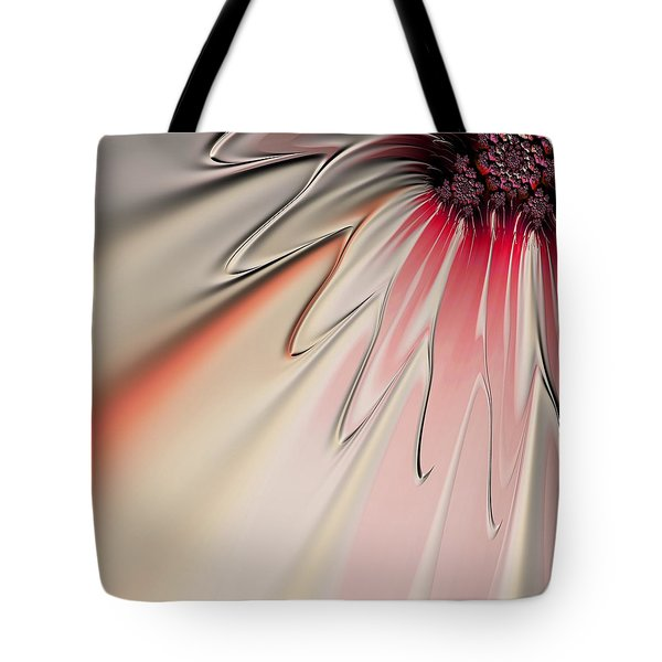 Tote Bag featuring the digital art Contemporary Flower by Bonnie Bruno