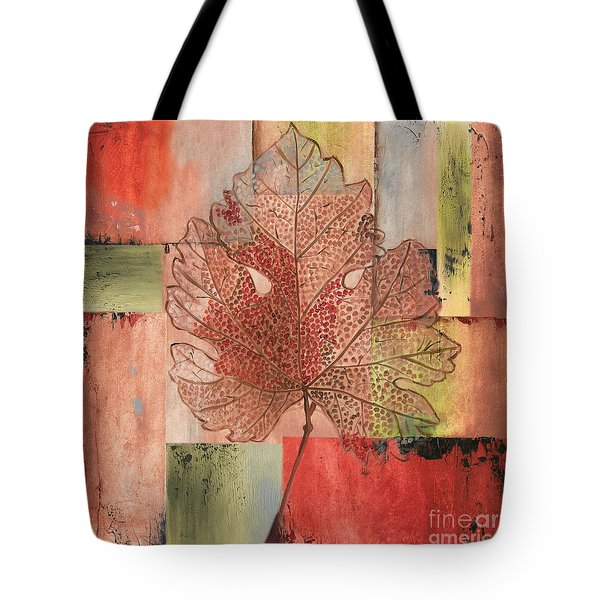 Contemporary Grape Leaf Tote Bag