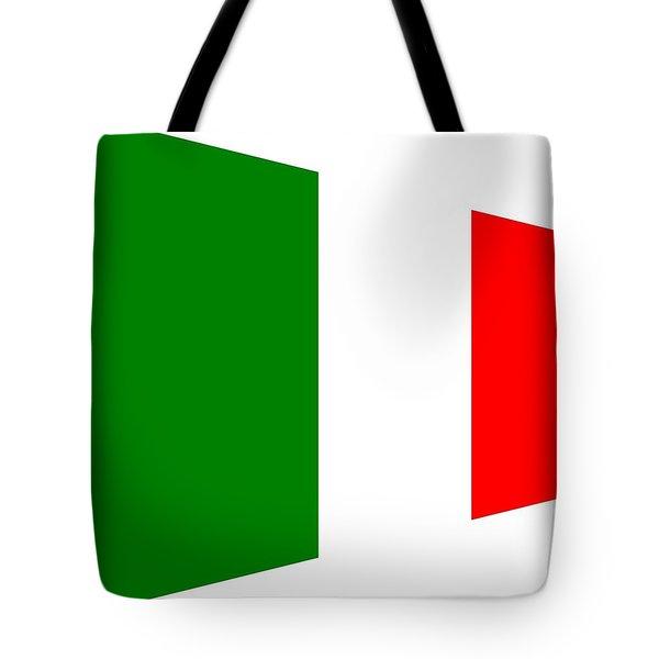contemporary Italian Flag Tote Bag