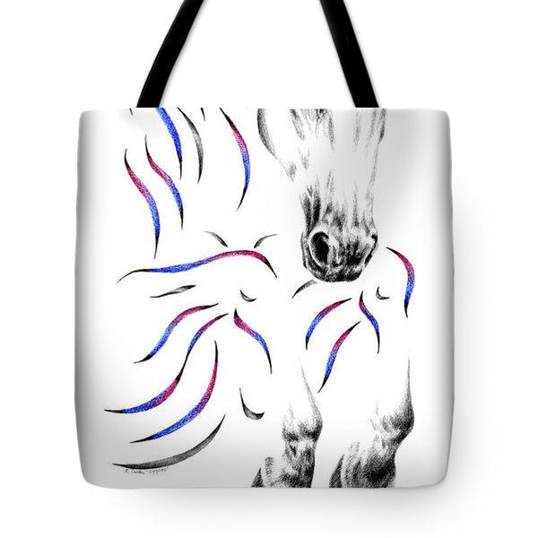 Contemporary Jumper Horse Tote Bag