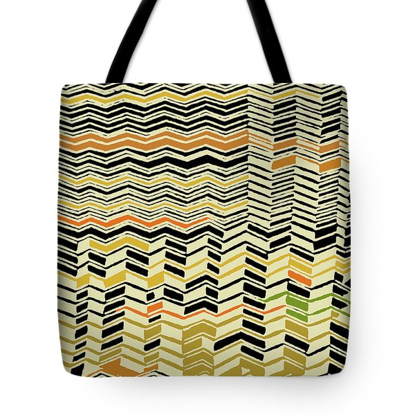 Tote Bag featuring the digital art Contemporary Kuba Cloth by Vagabond Folk Art - Virginia Vivier