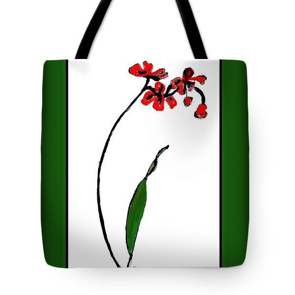 Tote Bag featuring the painting Contemporary Orchids by Marsha Heiken