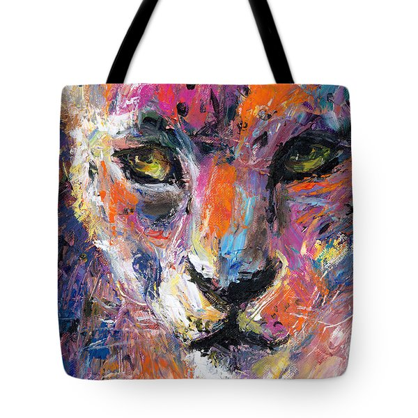 contemporary Wildlife painting cheetah leopard  Tote Bag