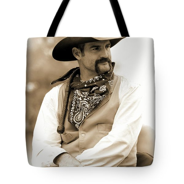 Content In The Saddle Tote Bag