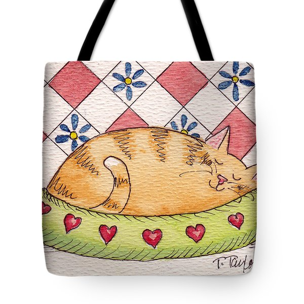 Contented Kitty Tote Bag