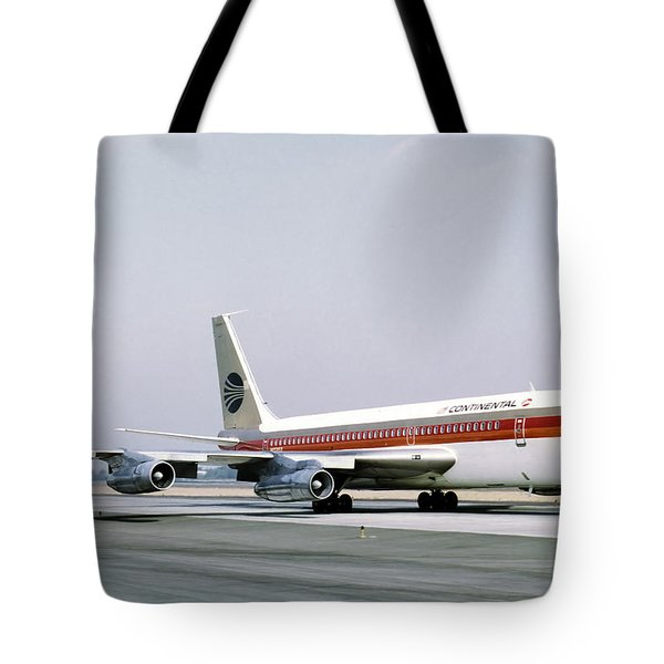 Continental Airlines 720-024b N17207 Los Angeles July 22 1972 Tote Bag