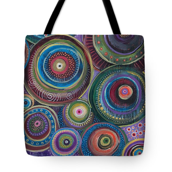 Tote Bag featuring the painting Continuum by Tanielle Childers