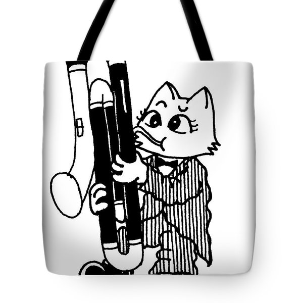 Contra Bassoon Cat Tote Bag