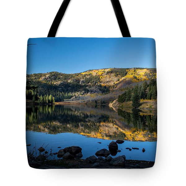 Contract Lake Fall Morning Tote Bag