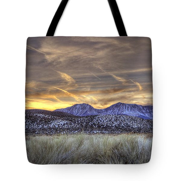 Contrails And Sage Brush Tote Bag