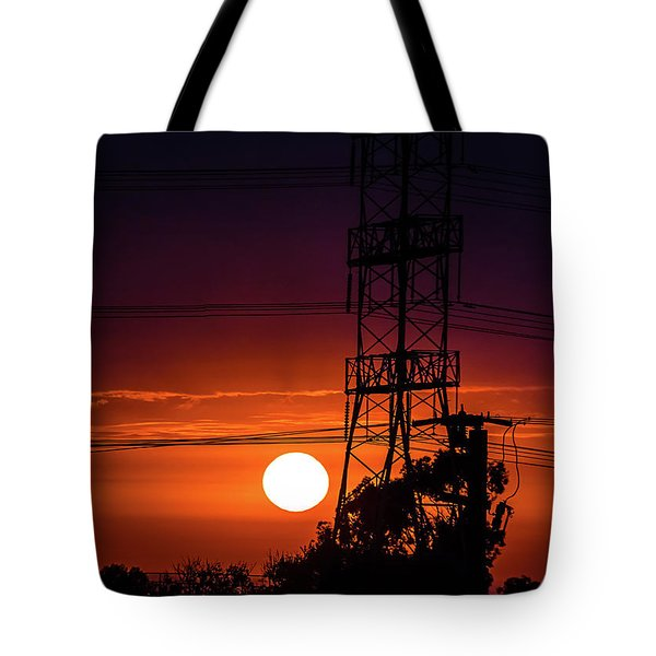 Contrast Of Two Powers Tote Bag