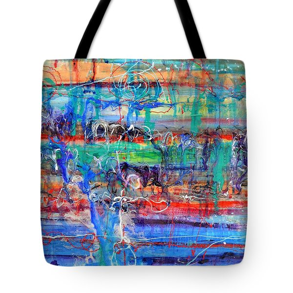 Convection Diffusion Tote Bag by Regina Valluzzi