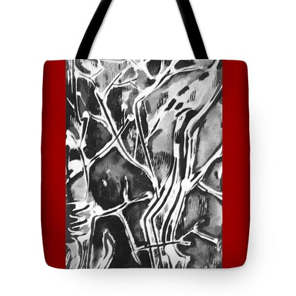 Tote Bag featuring the painting Convenor by Carol Rashawnna Williams