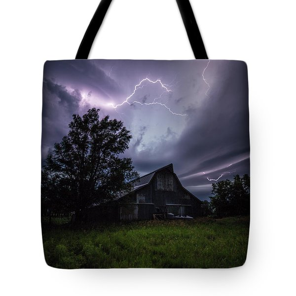 Tote Bag featuring the photograph Convergence  by Aaron J Groen